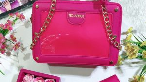 Ted Lapidus Red chain handle bag