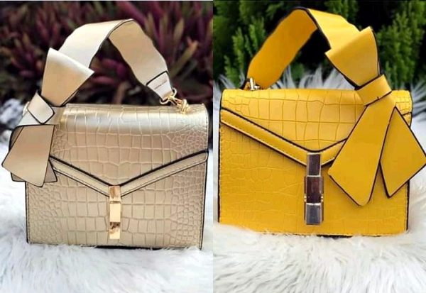 Textured leather small ladies handbag