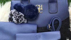 CH blue and black bag for ladies